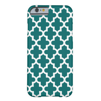 Coque iPhone 6 Barely There Motif marocain moderne turquoise foncé
