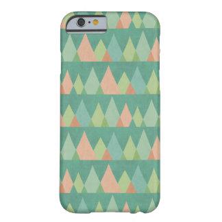 Coque iPhone 6 Barely There Motif turquoise de triangle d'étape | de Geo de