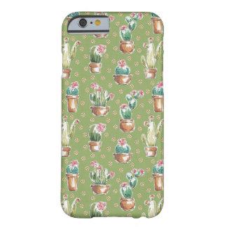 Coque iPhone 6 Barely There Motif vert d'étape | de fleur de désert