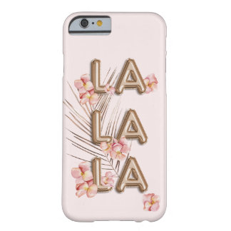 Coque iPhone 6 Barely There Motivation à la mode Girly de fleur de RoseGold de