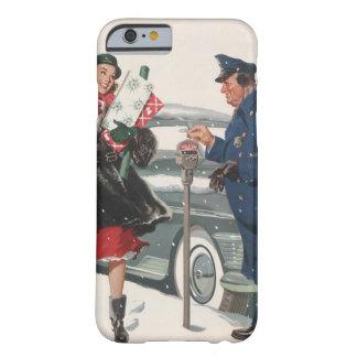 Coque iPhone 6 Barely There Noël vintage, policier de achat de présents
