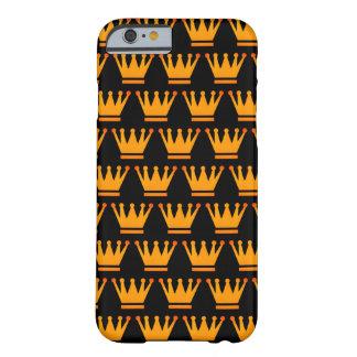 Coque iPhone 6 Barely There Noir d'or de la Reine de caisse de couronne
