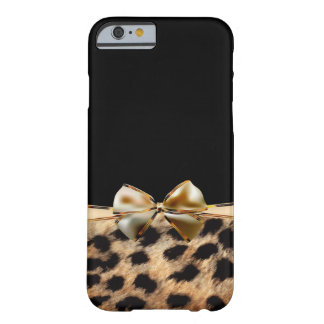 Coque iPhone 6 Barely There Noir et poster de animal de guépard de léopard