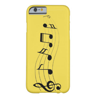 Coque iPhone 6 Barely There Notes musicales de personnaliser