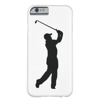 Coque iPhone 6 Barely There Ombre noire de silhouette de golf