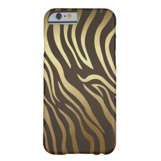 Coque iPhone 6 Barely There Or fascinant moderne d'impression de peau d'animal