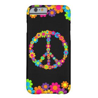 Coque iPhone 6 Barely There Paix personnalisable de flower power de bruit