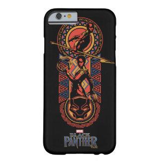 Coque iPhone 6 Barely There Panthère noire | Okoye et panneau de Nakia