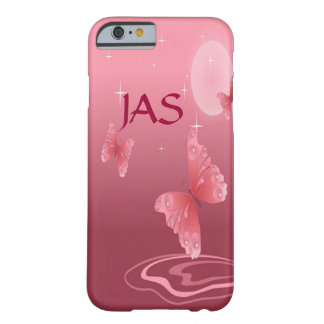 Coque iPhone 6 Barely There Papillons roses