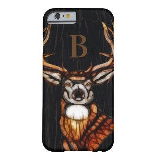 Coque iPhone 6 Barely There Pays rustique de cerfs communs en bois en bois