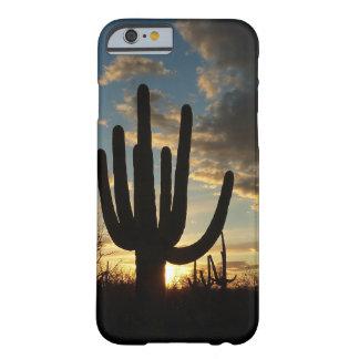 Coque iPhone 6 Barely There Paysage de désert du coucher du soleil II Arizona
