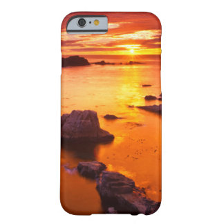 Coque iPhone 6 Barely There Paysage marin orange, coucher du soleil, la