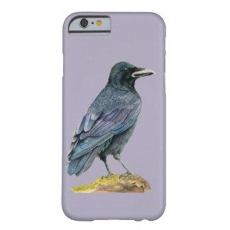 Coque iPhone 6 Barely There Peinture d'aquarelle de corneille