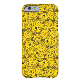 Coque iPhone 6 Barely There Petit motif de sourires de jaune d'amusement de