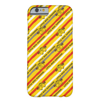 Coque iPhone 6 Barely There Petite Mlle Sunshine | rouge, motif jaune de