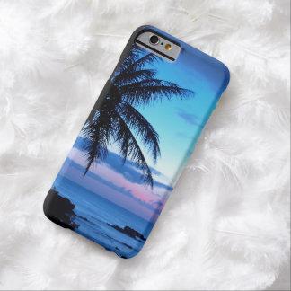 Coque iPhone 6 Barely There Photo bleue de coucher du soleil d'île de plage de
