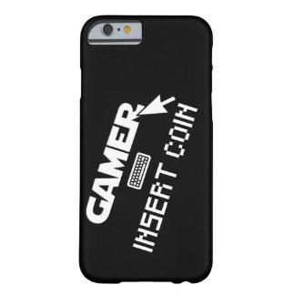 Coque iPhone 6 Barely There Pièce de monnaie d'insertion de Gamer