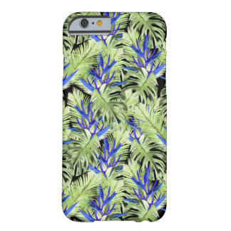 Coque iPhone 6 Barely There Plantes tropicales vertes et bleues