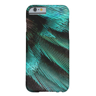 Coque iPhone 6 Barely There Plumes bleues de couvert d'aile