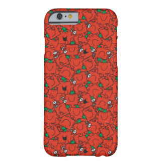 Coque iPhone 6 Barely There Poids de levage de M. Strong | rouges et motif