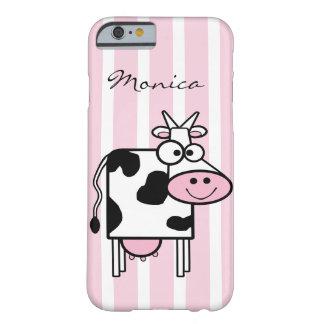 Coque iPhone 6 Barely There Poster de animal Girly de sourire de vache décoré