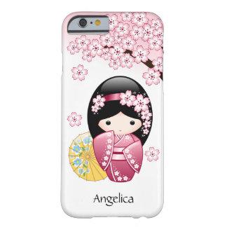 Coque iPhone 6 Barely There Poupée de Kokeshi de ressort - fille de geisha