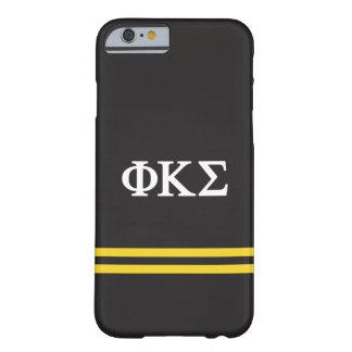 Coque iPhone 6 Barely There Rayure de sport du sigma   de Kappa de phi