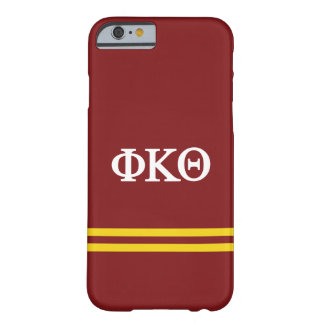 Coque iPhone 6 Barely There Rayure de sport du thêta | de Kappa de phi