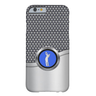 Coque iPhone 6 Barely There Regard métallique sportif d'oscillation de golf