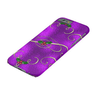 Coque iPhone 6 Barely There Remous lilas romantiques de Noël