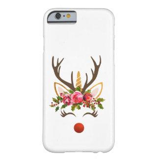 Coque iPhone 6 Barely There Renne Antler de licorne/fleurs de Noël