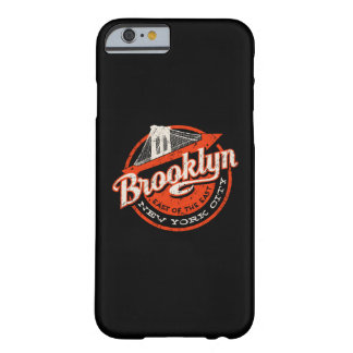 Coque iPhone 6 Barely There Rétro typographie de Brooklyn New York City |