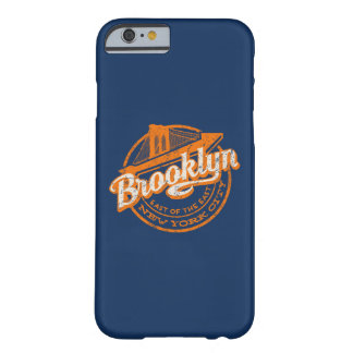Coque iPhone 6 Barely There Rétro typographie vintage de Brooklyn, New York |