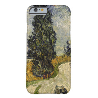 Coque iPhone 6 Barely There Route de Vincent van Gogh | avec des cyprès, 1890