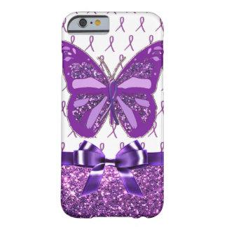 Coque iPhone 6 Barely There Ruban pourpre de papillon de conscience de