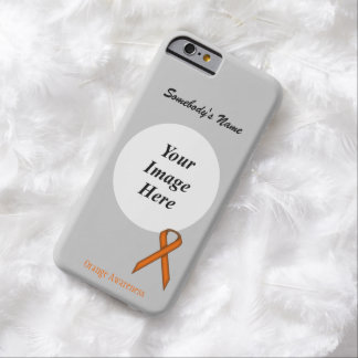 Coque iPhone 6 Barely There Ruban standard orange Tmpl par Kenneth Yoncich