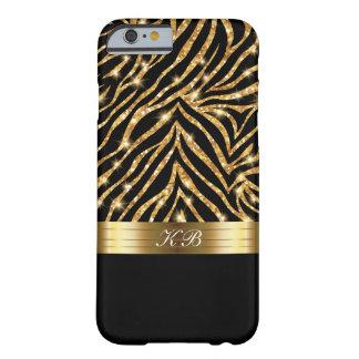 Coque iPhone 6 Barely There Scintillement élégant étincelant d'or de dames de