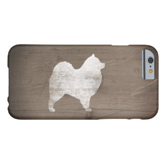 Coque iPhone 6 Barely There Silhouette de Samoyed rustique