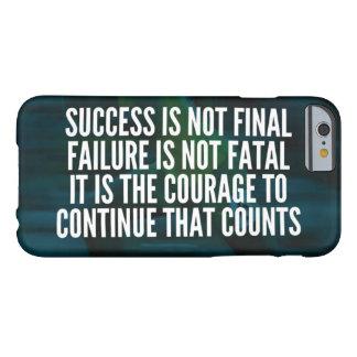 Coque iPhone 6 Barely There Succès, échec, courage - séance d'entraînement de