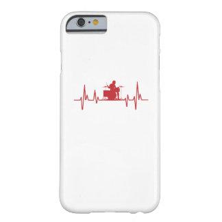 Coque iPhone 6 Barely There Tambours drôles d'amour du battement de coeur I de