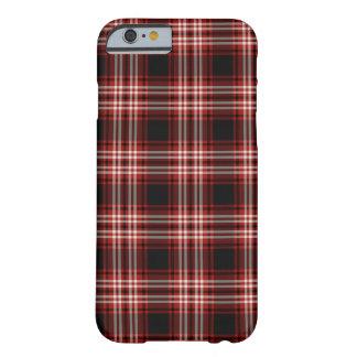 Coque iPhone 6 Barely There Tartan rouge et noir de secteur de Tweedside