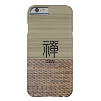 Coque iPhone 6 Barely There Tatami chinois de vert olive de calligraphie de