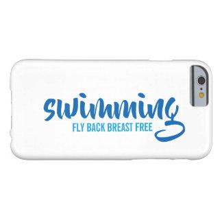 Coque iPhone 6 Barely There Texte typographique de natation de sein de mouche