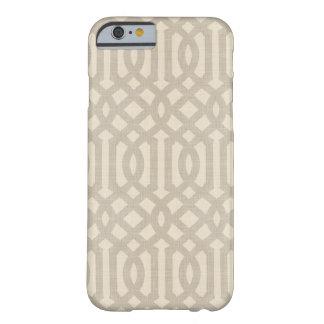 Coque iPhone 6 Barely There Treillis de toile rustique de beige et de Taupe