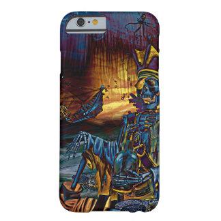 Coque iPhone 6 Barely There Trésor squelettique de pirate sous l'art comique