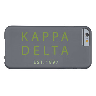 Coque iPhone 6 Barely There Type moderne de delta de Kappa