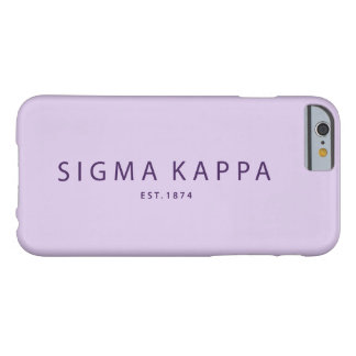 Coque iPhone 6 Barely There Type moderne de Kappa de sigma