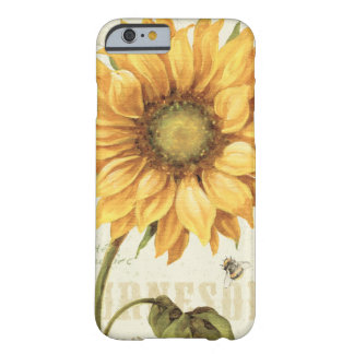 Coque iPhone 6 Barely There Un tournesol jaune