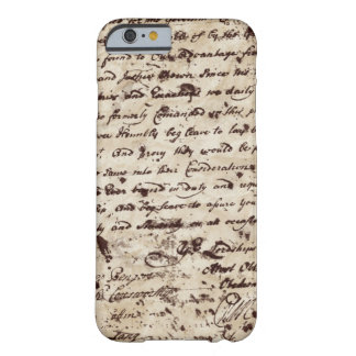 Coque iPhone 6 Barely There Vieille lettre manuscrite vintage