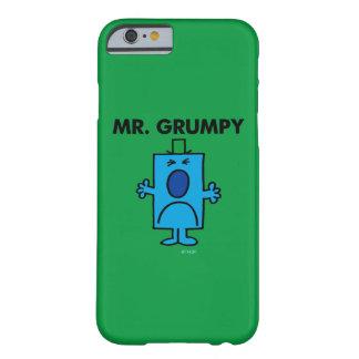 Coque iPhone 6 Barely There Visage de froncement de sourcils de M. Grumpy |